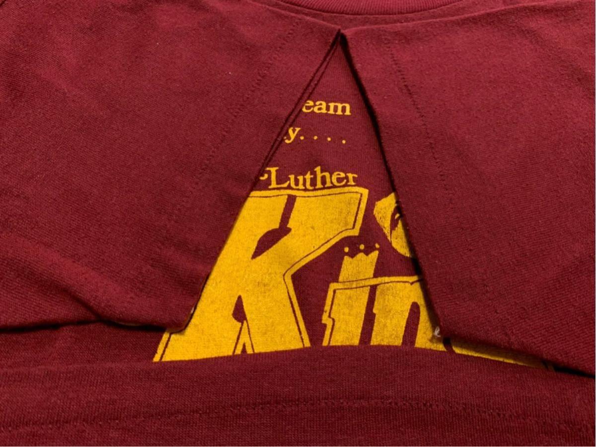 80's Martin Luther King Jr キング牧師 Tシャツ / ビンテージ80年代 マーティンルーサーキングジュニア マルコムX NELSON MANDELA 黒人90s_画像5