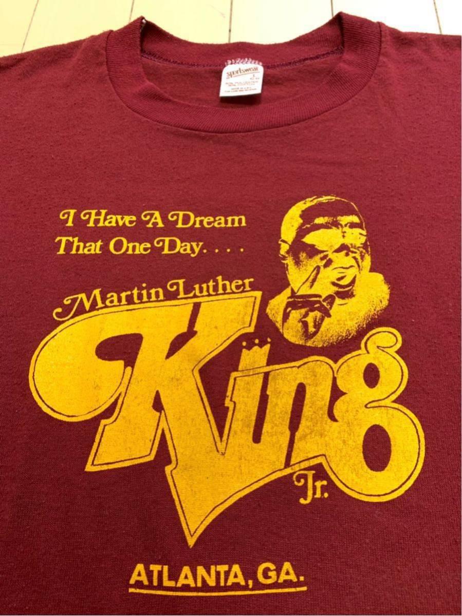 80's Martin Luther King Jr キング牧師 Tシャツ / ビンテージ80年代 マーティンルーサーキングジュニア マルコムX NELSON MANDELA 黒人90s