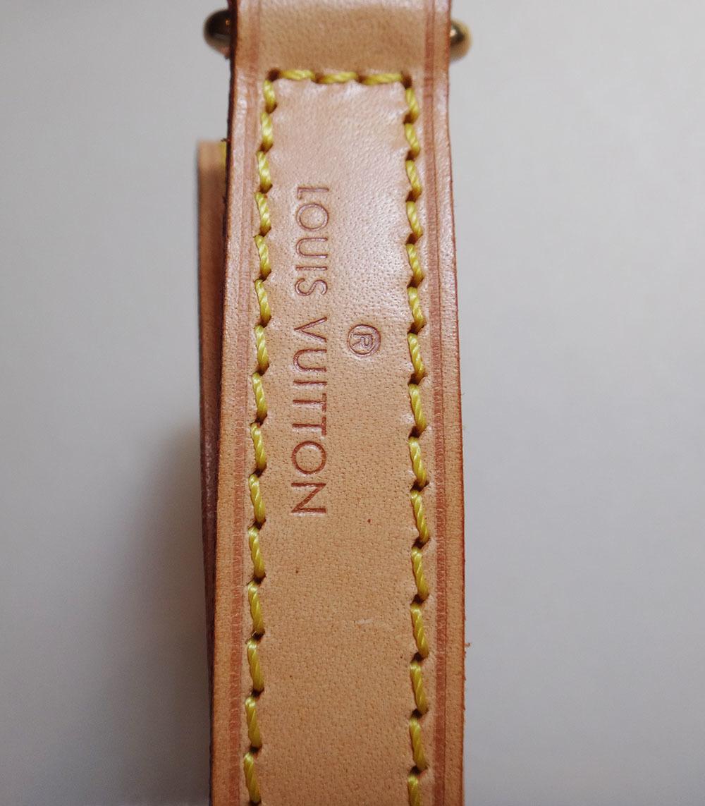 美品 Louis Vuitton ルイ・ヴィトン ショルダーストラップ ヌメ革 ナチュラル 約120cm 本物 プレゼント レディース 【中古】_画像9