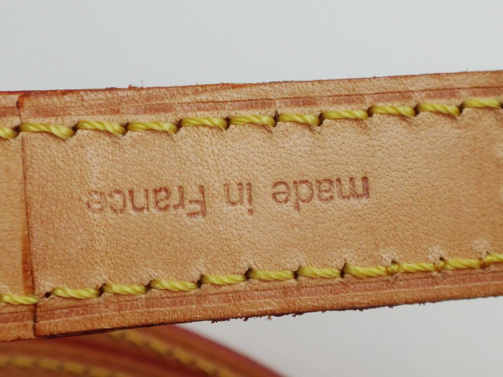 美品 Louis Vuitton ルイ・ヴィトン ショルダーストラップ ヌメ革 ナチュラル 約120cm 本物 プレゼント レディース 【中古】_画像7