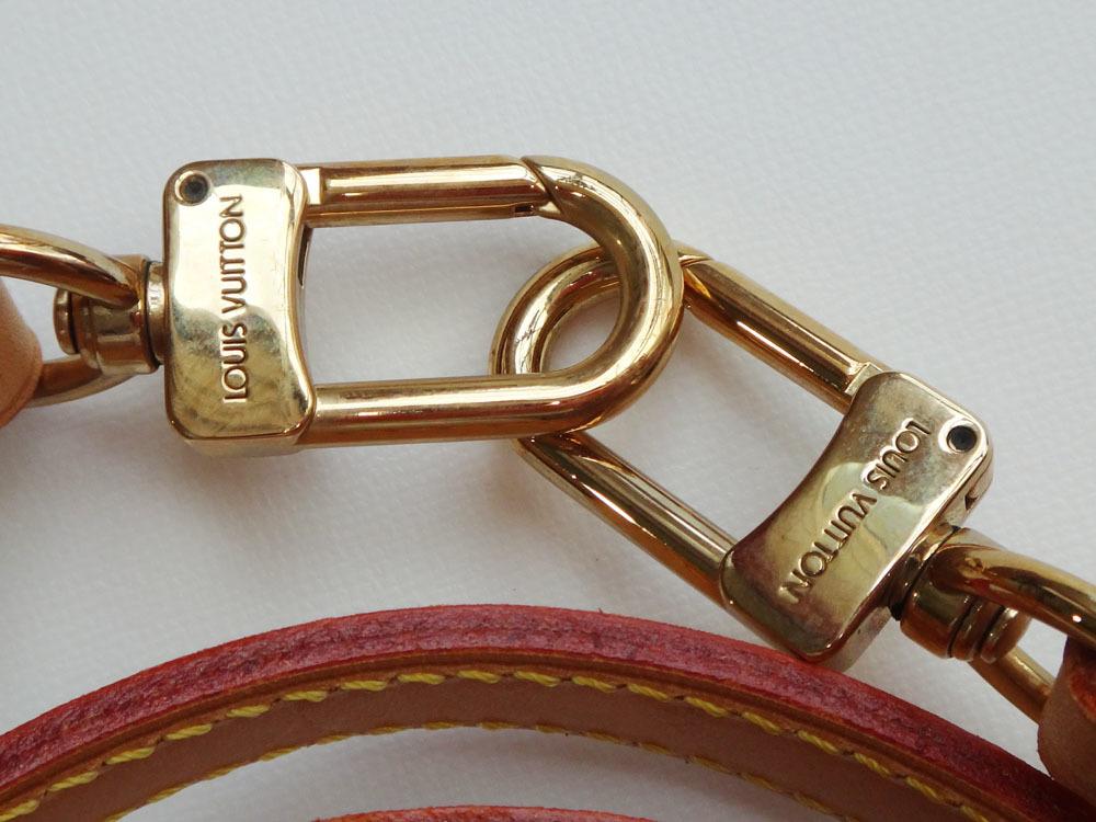 美品 Louis Vuitton ルイ・ヴィトン ショルダーストラップ ヌメ革 ナチュラル 約120cm 本物 プレゼント レディース 【中古】_画像5