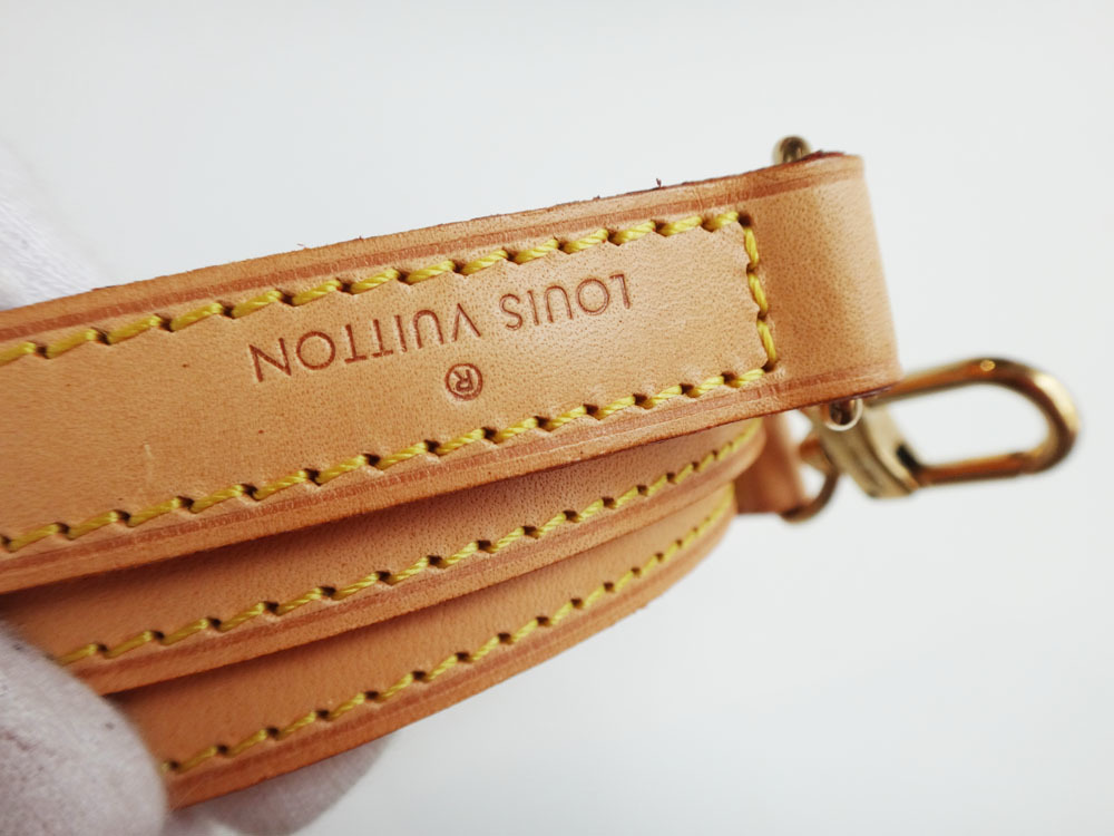 美品 Louis Vuitton ルイ・ヴィトン ショルダーストラップ ヌメ革 ナチュラル 約120cm 本物 プレゼント レディース 【中古】_画像8