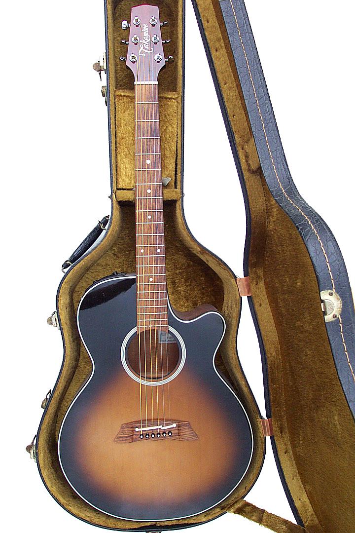 2001年頃製造 日本製 タカミネ Takamine PT107 TBS アコギ アコースティックギター  PT107 エレアコ 名機検索 長渕剛 ケース付き