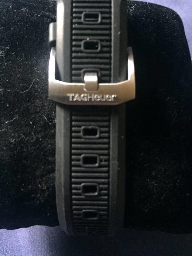 中古美品 タグホイヤー フォーミュラ1 WAH1111 クォーツ ラバーベルト 文字盤 白_画像5