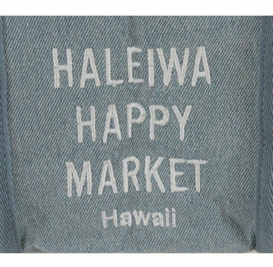 新品タグ付き送料無料★ハワイ★ハレイワハッピーマーケットHaleiwa Happy Market★エコバッグミニトートバッグ★プレゼントにも★Lデニム_画像3