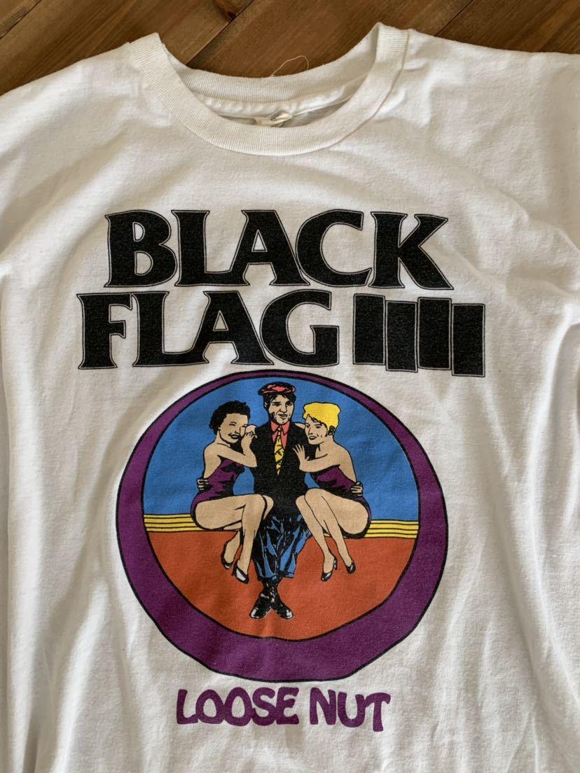 サマーセール Black Flag Loose nut ツアー Tシャツ ブラック フラッグ Otis & Biscuit seditionaries Jam sex Pistols fifth column clash_画像2