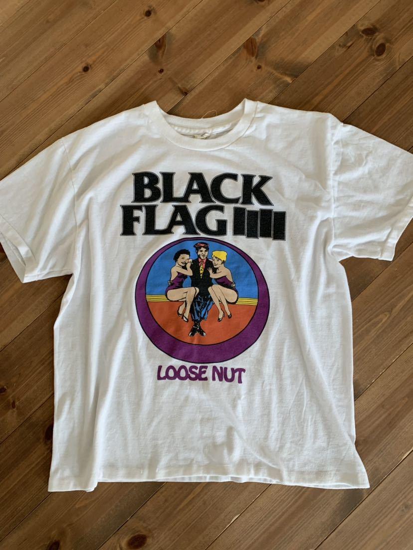 サマーセール Black Flag Loose nut ツアー Tシャツ ブラック フラッグ Otis & Biscuit seditionaries Jam sex Pistols fifth column clash_画像3