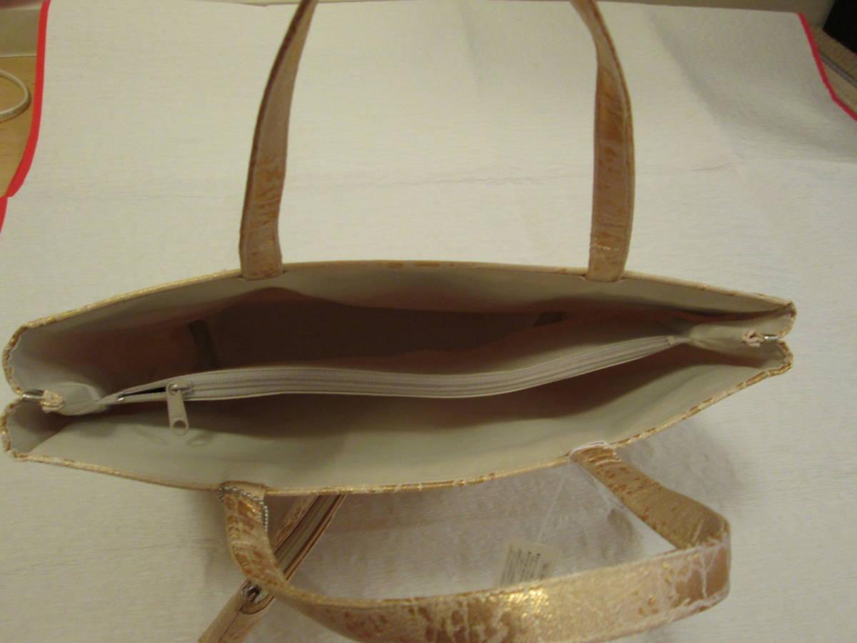 和装バッグ 新品未使用 ゴールド ミニポーチ付き A4サイズ_画像5