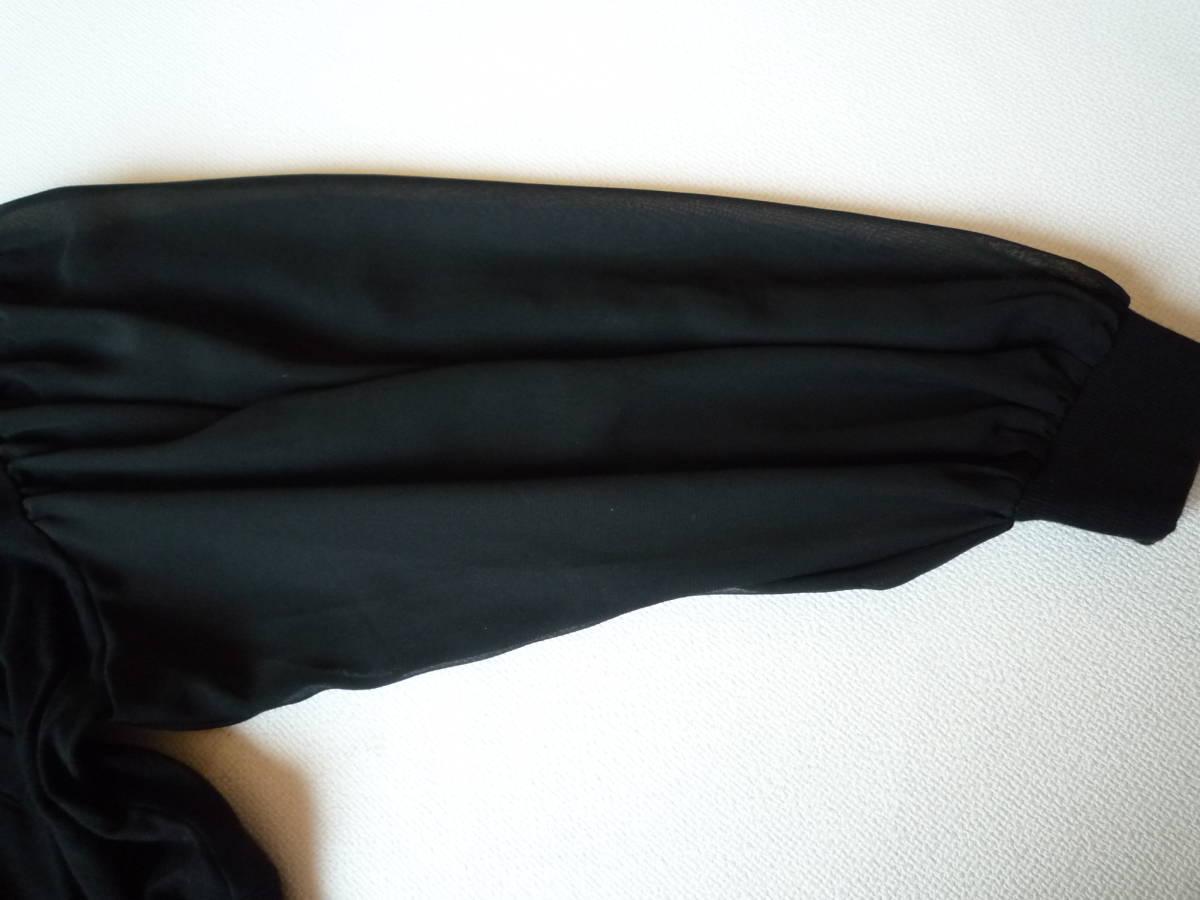 美品・SLY スライ 黒 ジャンパー 袖シフォン 送料¥185円_画像4