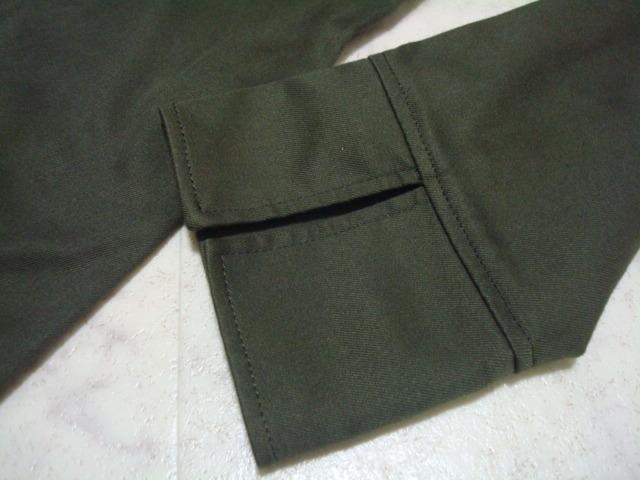 ■ 美品 ROPE ロペ ジュン 日本製 カーキ 綿 コットン シャツ型 ワンピース 長袖 7分袖 7AR 7号 1号 36号 Sサイズ ジャンパースカート _画像6