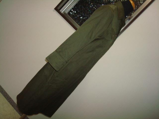 ■ 美品 ROPE ロペ ジュン 日本製 カーキ 綿 コットン シャツ型 ワンピース 長袖 7分袖 7AR 7号 1号 36号 Sサイズ ジャンパースカート _画像3