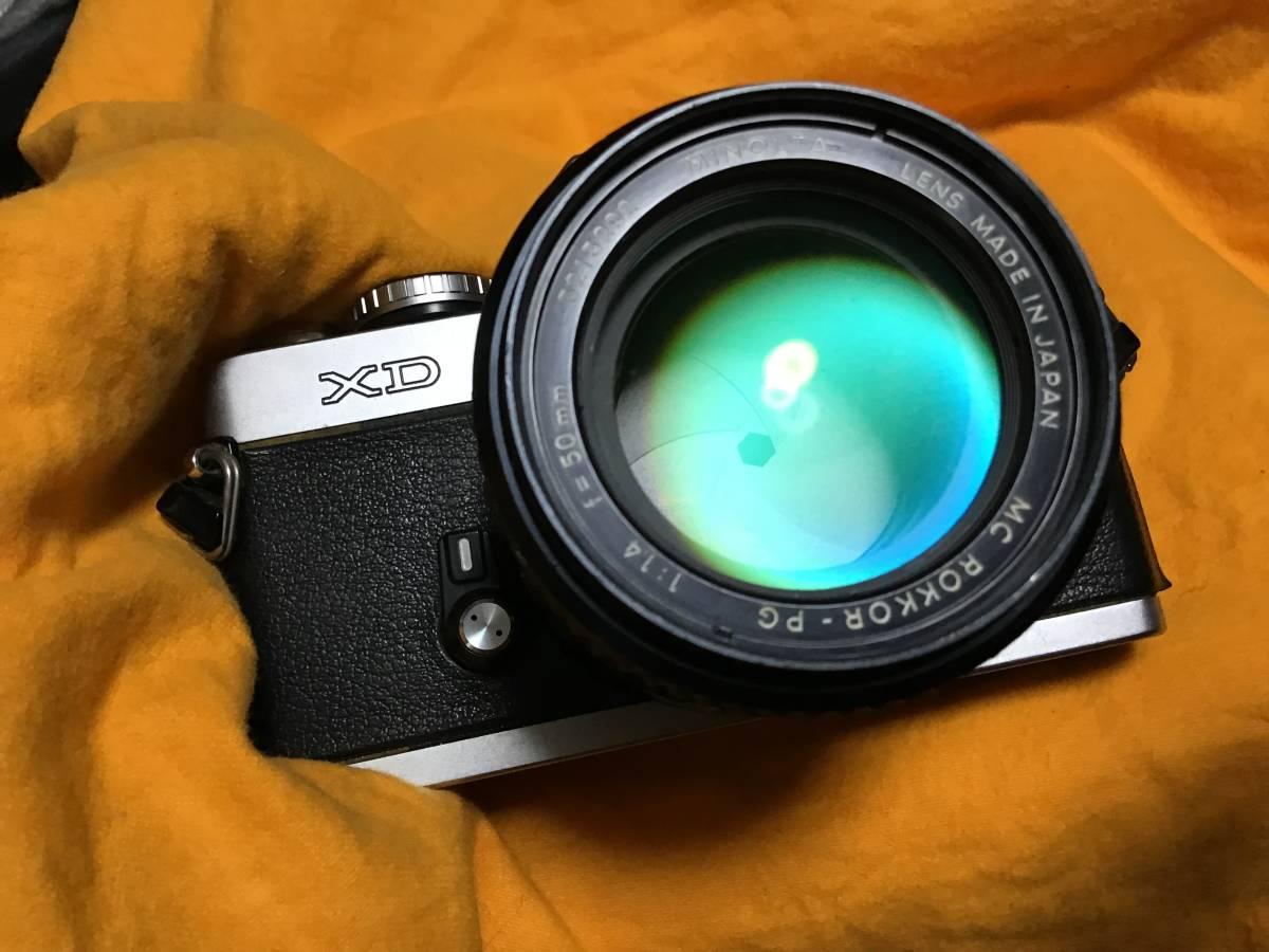 minolta XD + MINOLTA MC ROKKOR-PG 1:1.4 f= 50mm ジャンク_画像2