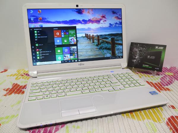 【高速Core i7(Sandy Bridge)★爆速新SSD512GB】AH53/J 富士通 ホワイト 最新Windows10