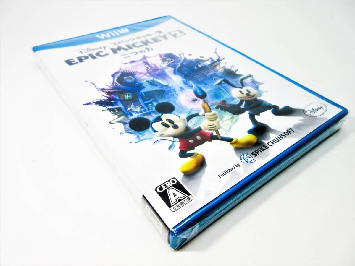 【新品未開封】【Wii U】ディズニー エピックミッキー2 二つの力 Disney EPIC MICKEY 2_画像5