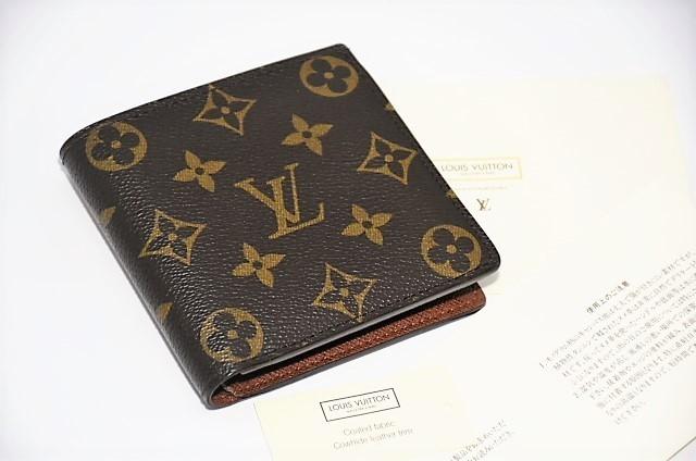 【確実正規品】超極美品!ヴィトン ポルトフォイユ・マルコ 小銭入れ付き二つ折り短財布