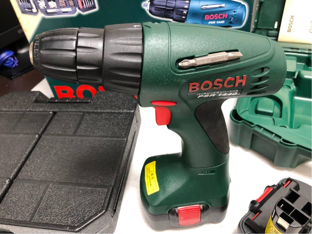 BOSCH ボッシュ 電動工具 PSR1440 バッテリードライバードリル バッテリー2個付 14.4v アクセサリーセット付 _画像8