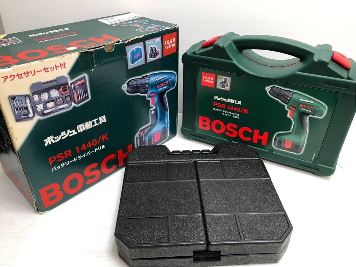BOSCH ボッシュ 電動工具 PSR1440 バッテリードライバードリル バッテリー2個付 14.4v アクセサリーセット付 _画像2