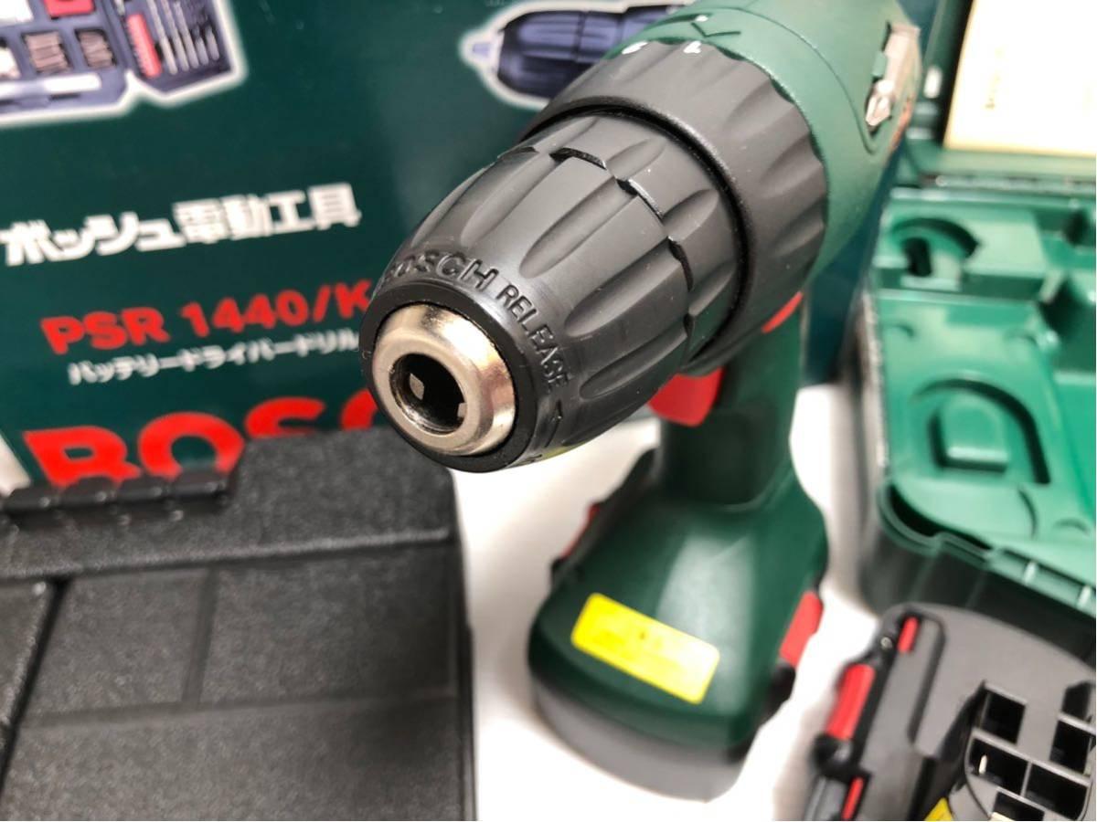 BOSCH ボッシュ 電動工具 PSR1440 バッテリードライバードリル バッテリー2個付 14.4v アクセサリーセット付 _画像10