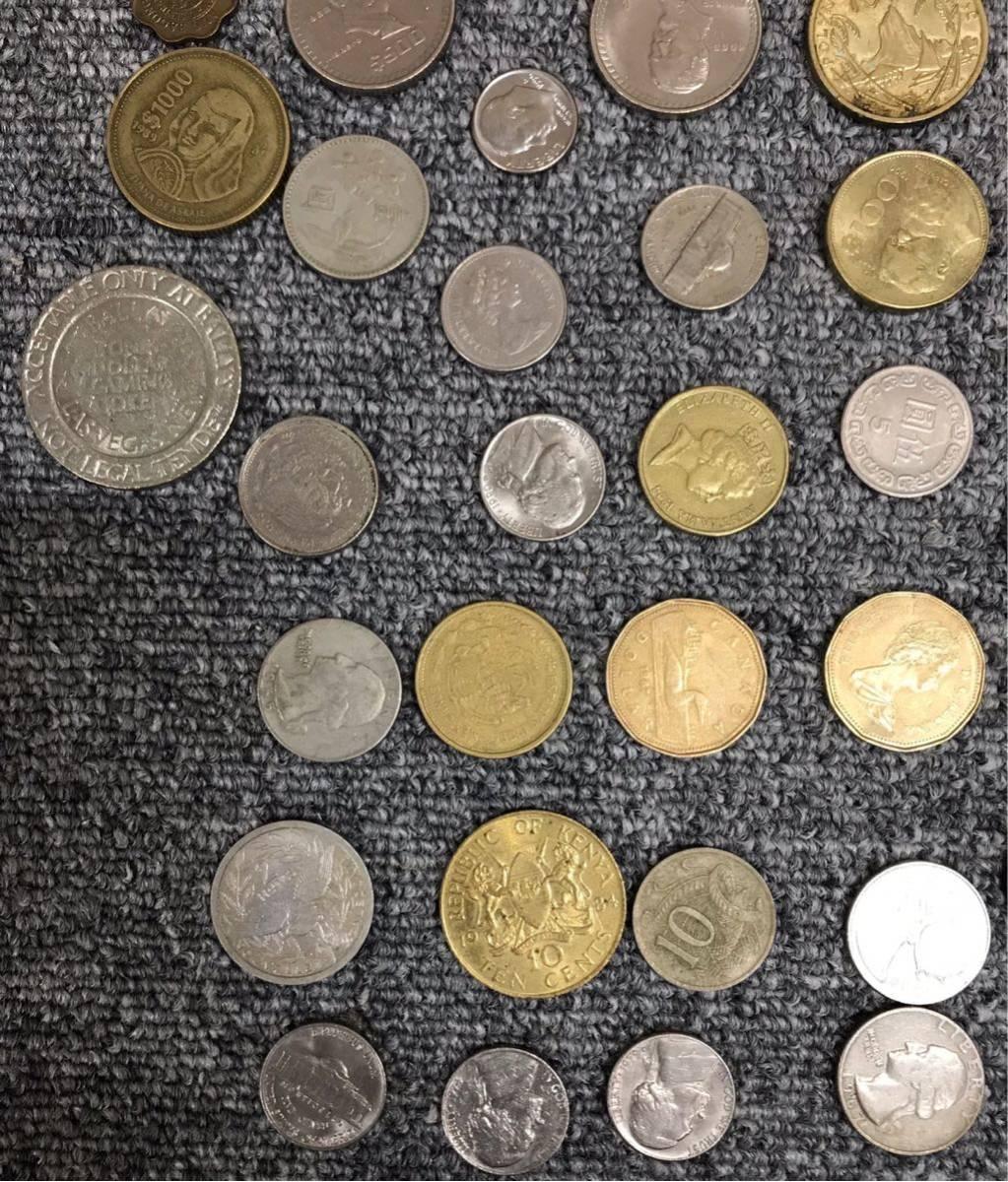 1円 ~ 外国の硬貨 紙幣 まとめて 中国 ニュージーランド アメリカ 他 紙幣7枚 硬貨81枚 宅急便コンパクト発送予定_画像6