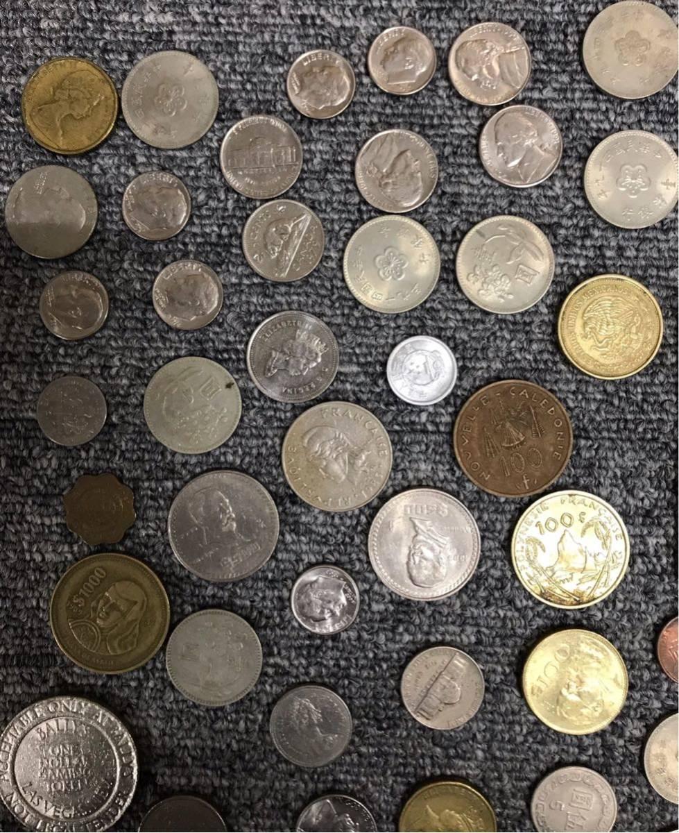 1円 ~ 外国の硬貨 紙幣 まとめて 中国 ニュージーランド アメリカ 他 紙幣7枚 硬貨81枚 宅急便コンパクト発送予定_画像7