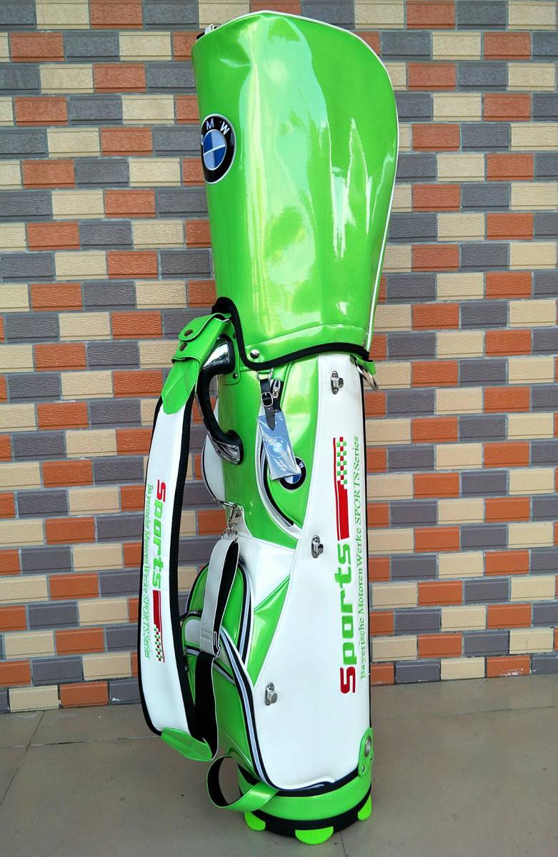 最高級※BMW/ビーエムダブリュー※上級ランク・ゴルフバック・BMWツアーモデル・エナメル革・キャディバッグ 9型・限定色_画像6