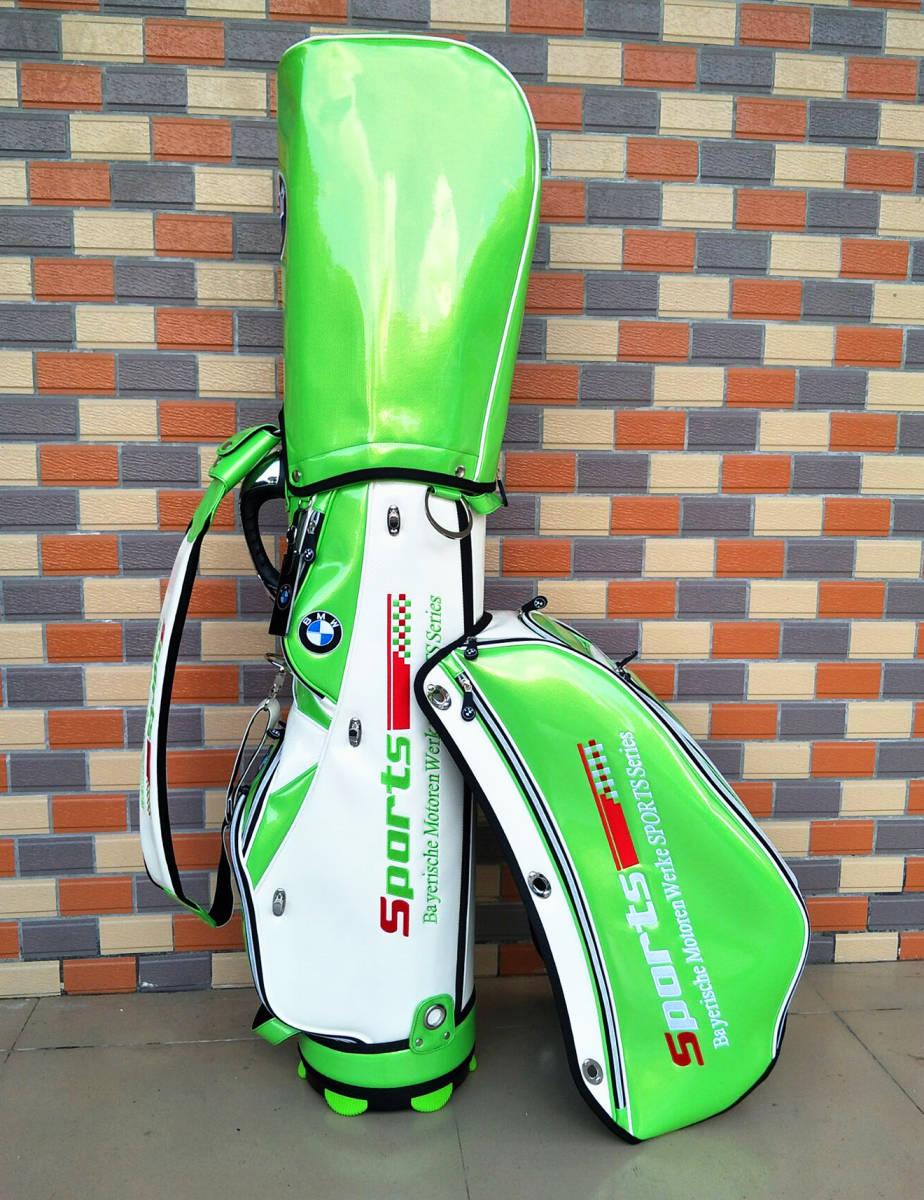 最高級※BMW/ビーエムダブリュー※上級ランク・ゴルフバック・BMWツアーモデル・エナメル革・キャディバッグ 9型・限定色_画像3