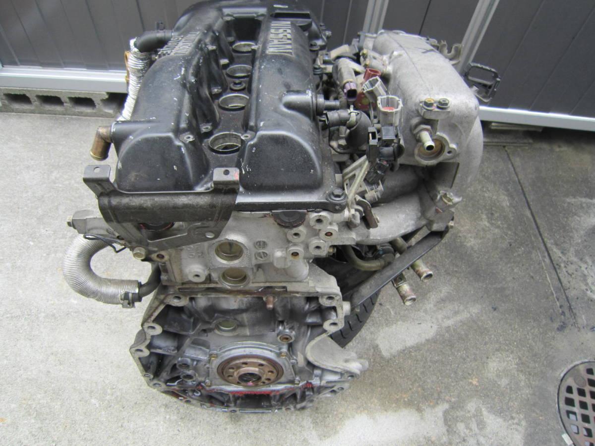 日産 シルビア S14 SR20DET 純正 エンジン 本体 中古 要O/H 部品取り ジャンク S13 S15 ローレル スカイライン 1円スタート