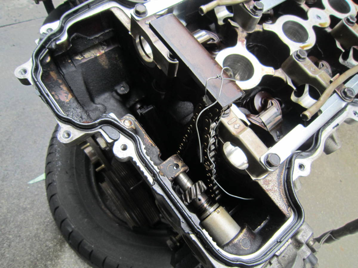 日産 シルビア S14 SR20DET 純正 エンジン 本体 中古 要O/H 部品取り ジャンク S13 S15 ローレル スカイライン 1円スタート_画像8