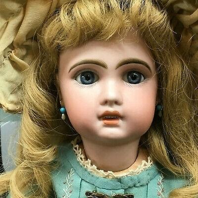 価格交渉あり 稀少 1907年 52cm ブルーアイ Jumeau bebe ジュモー ベベ アンティークビスクドール オープンマウス フランス