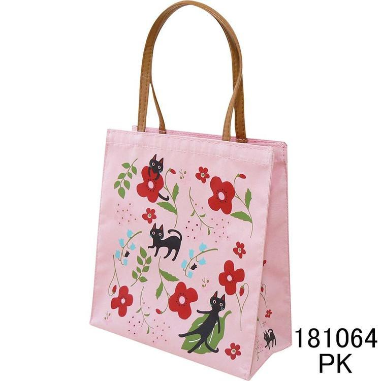 NEKOにゃーご ミニトートバッグ 人気の猫柄 ピンク ネコ ねこ 猫 お花 送料無料 _画像1