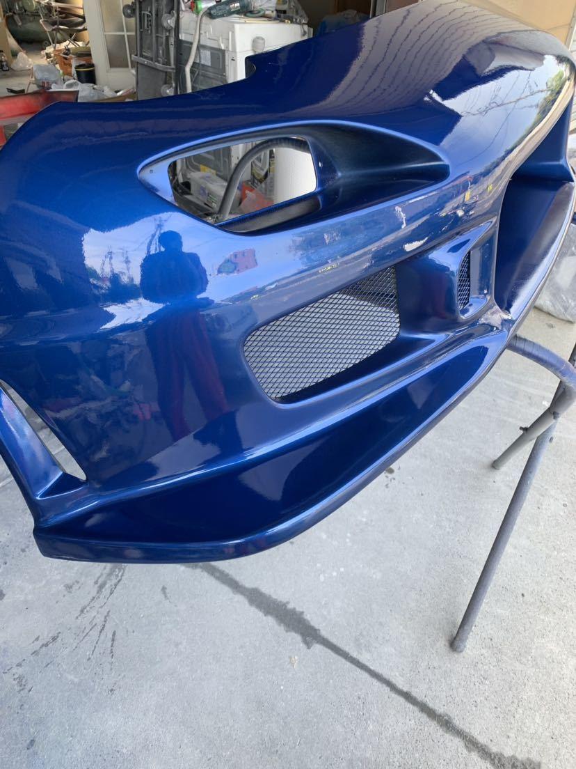 塗装屋なので無料色変えok RX7 c-west N1 フロントバンパー2 新品だと約10万 程度良 シーウエスト マツダ RX-7 FD3S FD3S N1 最終型 セブン_画像3