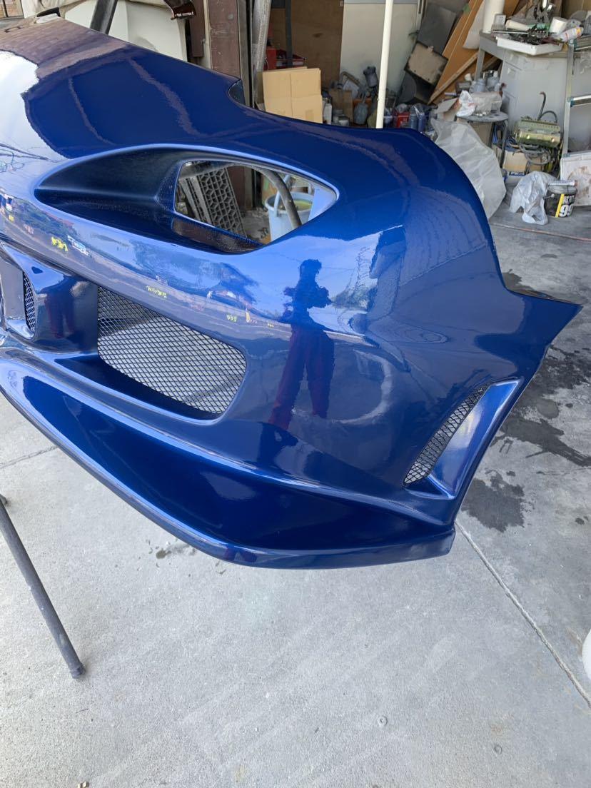 塗装屋なので無料色変えok RX7 c-west N1 フロントバンパー2 新品だと約10万 程度良 シーウエスト マツダ RX-7 FD3S FD3S N1 最終型 セブン_画像4