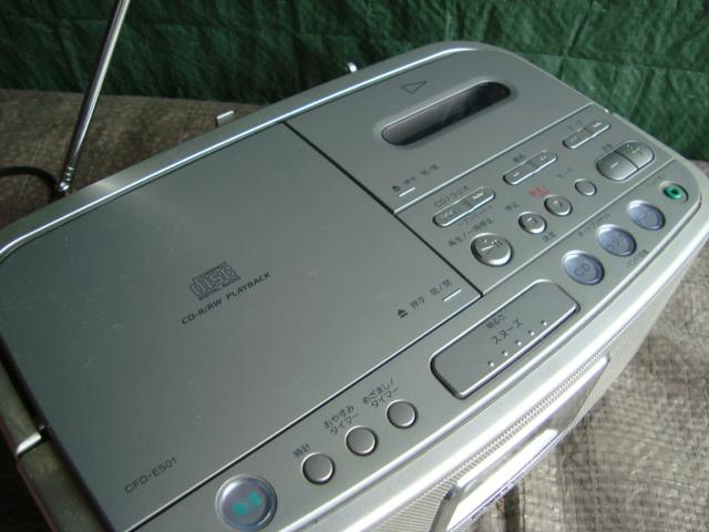 ☆★aiSONY ソニー CDラジオカセットレコーダー CFD-E501 シルバー TAPE 目覚まし ラジカセ_画像4