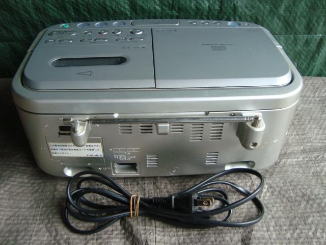☆★aiSONY ソニー CDラジオカセットレコーダー CFD-E501 シルバー TAPE 目覚まし ラジカセ_画像5