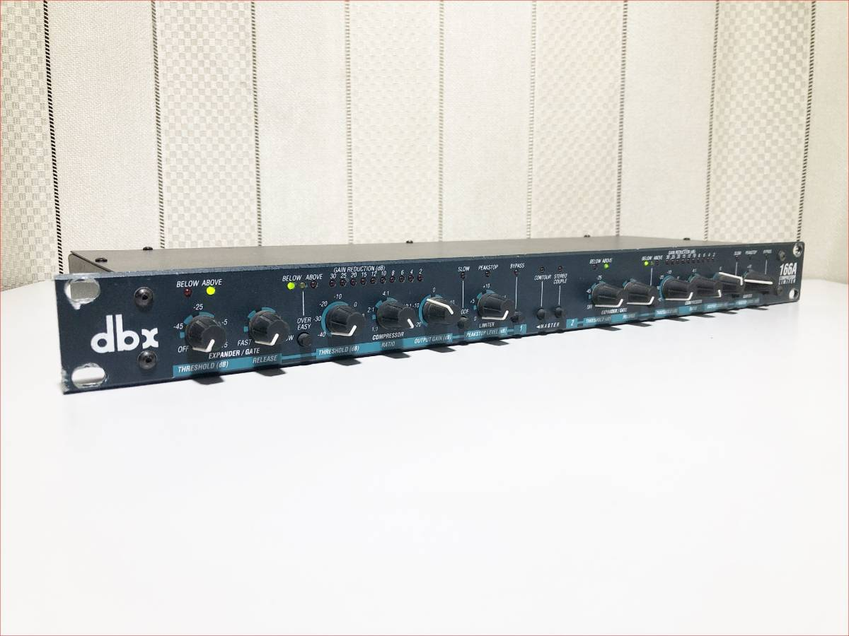 dbx 166A 正常動作品 USA製 2chコンプレッサー SN_10166