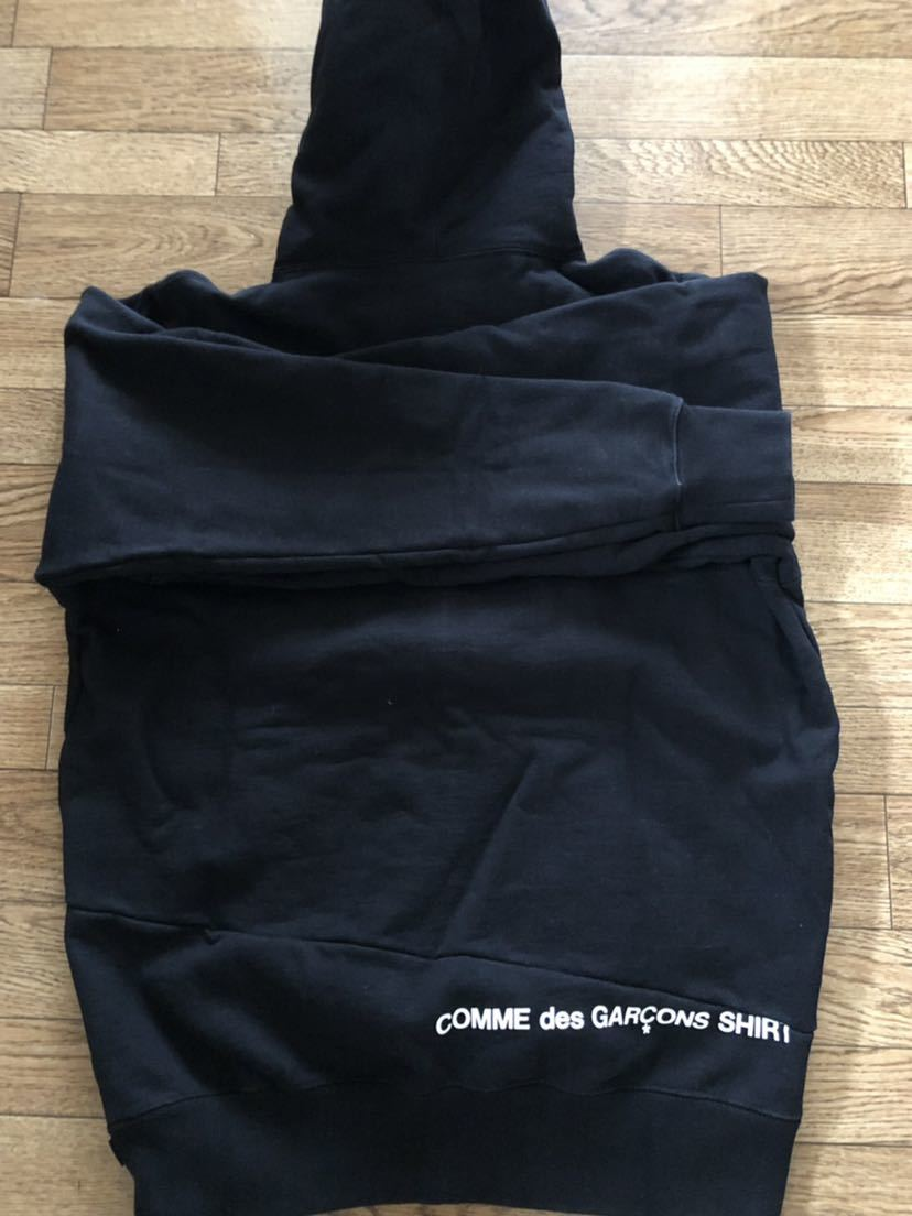 18AW Supreme COMME des GARCONS SHIRT Split Box Logo Hooded Sweatshirt シュプリーム ギャルソンパーカー Mサイズ_画像2