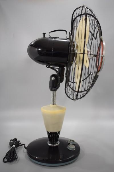 動確 東京芝浦電気 東芝 ライト付き 扇風機 夕顔 昭和30年代 TOSHIBA レトロ アンティーク ビンテージ ランプ 照明 K-82_画像6