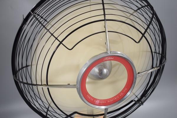 動確 東京芝浦電気 東芝 ライト付き 扇風機 夕顔 昭和30年代 TOSHIBA レトロ アンティーク ビンテージ ランプ 照明 K-82_画像3