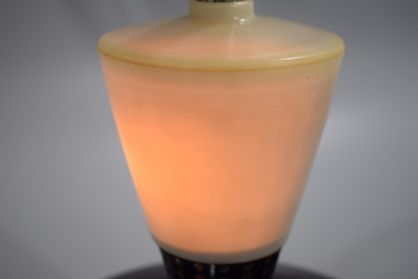 動確 東京芝浦電気 東芝 ライト付き 扇風機 夕顔 昭和30年代 TOSHIBA レトロ アンティーク ビンテージ ランプ 照明 K-82_画像2