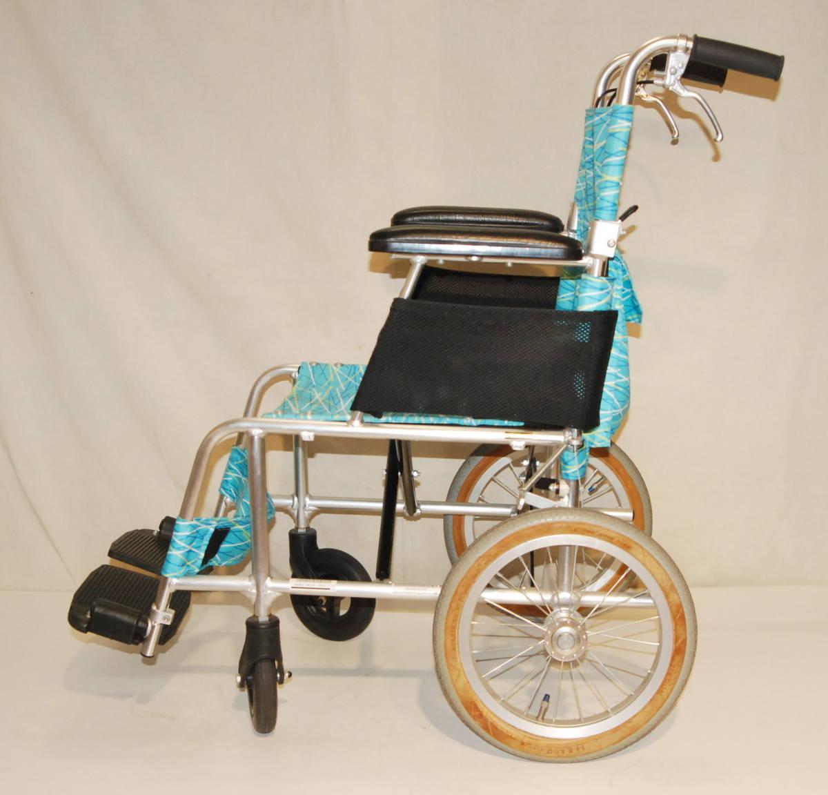 日進医療器 Nissin 車椅子 NAH-L7F 介護式 超軽量型 アルミ製超軽量型介護型車イス 車いす アルミ製_画像8