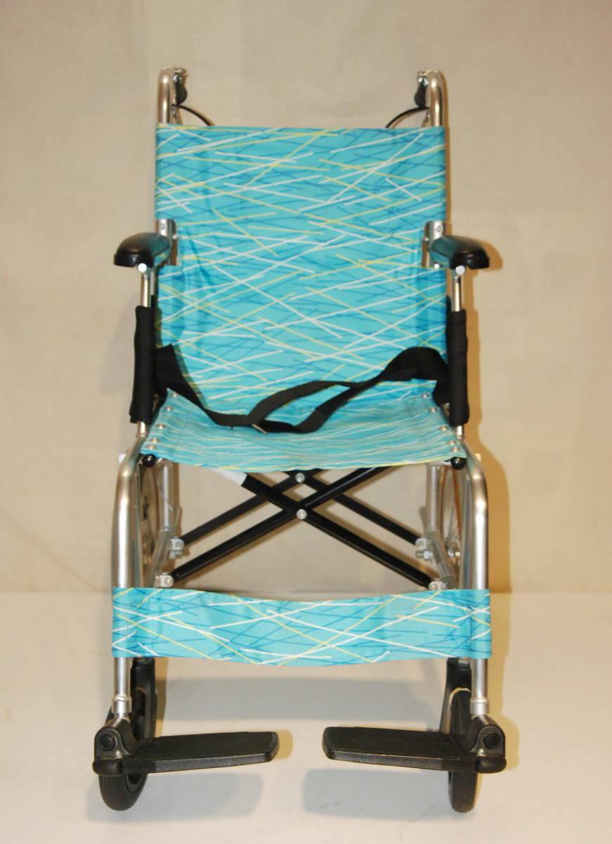 日進医療器 Nissin 車椅子 NAH-L7F 介護式 超軽量型 アルミ製超軽量型介護型車イス 車いす アルミ製_画像2
