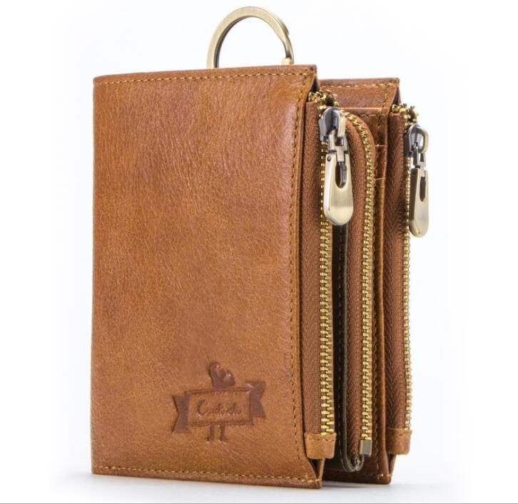 二つ折り 財布 本革 牛革 柔らかい 財布 メンズ 本革 小銭入れ 免許証入れ カード13枚収納 男性 ファッション小物 ライトブラウン/F98