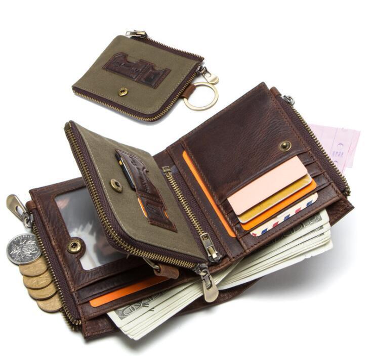 二つ折り 財布 本革 牛革 柔らかい 財布 メンズ 本革 小銭入れ 免許証入れ カード13枚収納 男性 ファッション小物 ライトブラウン/F98_画像8