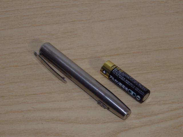 ◆小型/ペン型 赤色レーザーポインター LP-ST300 電池新品交換済み◆プレゼン