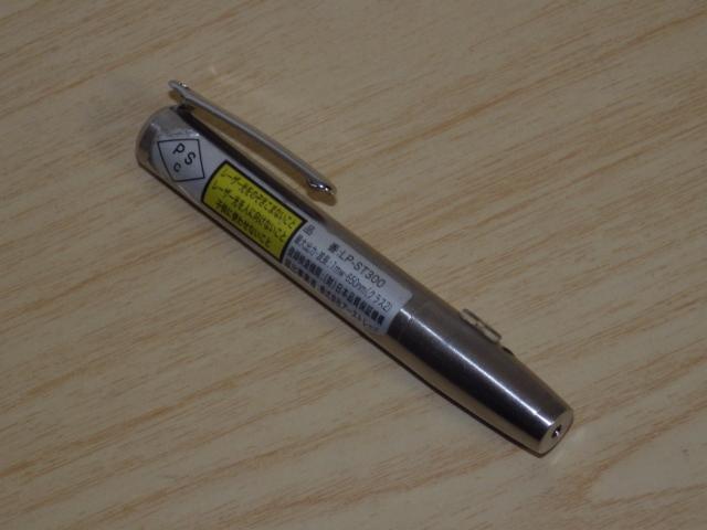 ◆小型/ペン型 赤色レーザーポインター LP-ST300 電池新品交換済み◆プレゼン_画像2