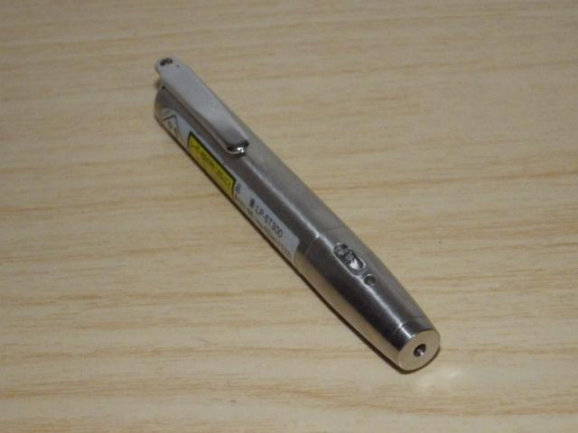 ◆小型/ペン型 赤色レーザーポインター LP-ST300 電池新品交換済み◆プレゼン_画像3