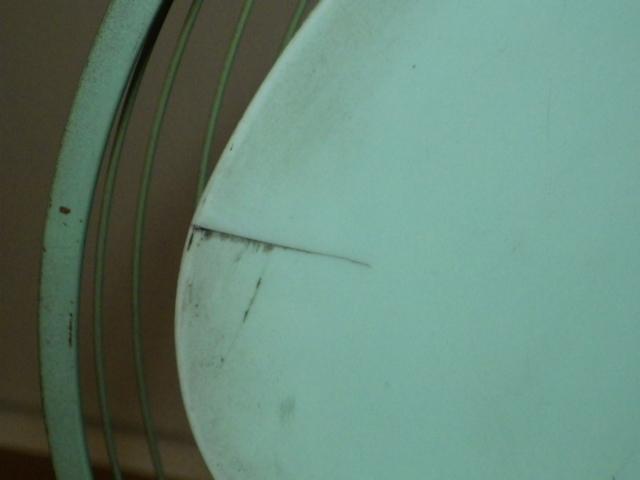 ◆昭和レトロ 三菱 A.C. ELECTRIC FAN/扇風機 羽根径約30cm 首振り DM-12GD 薄青磁◆_画像7