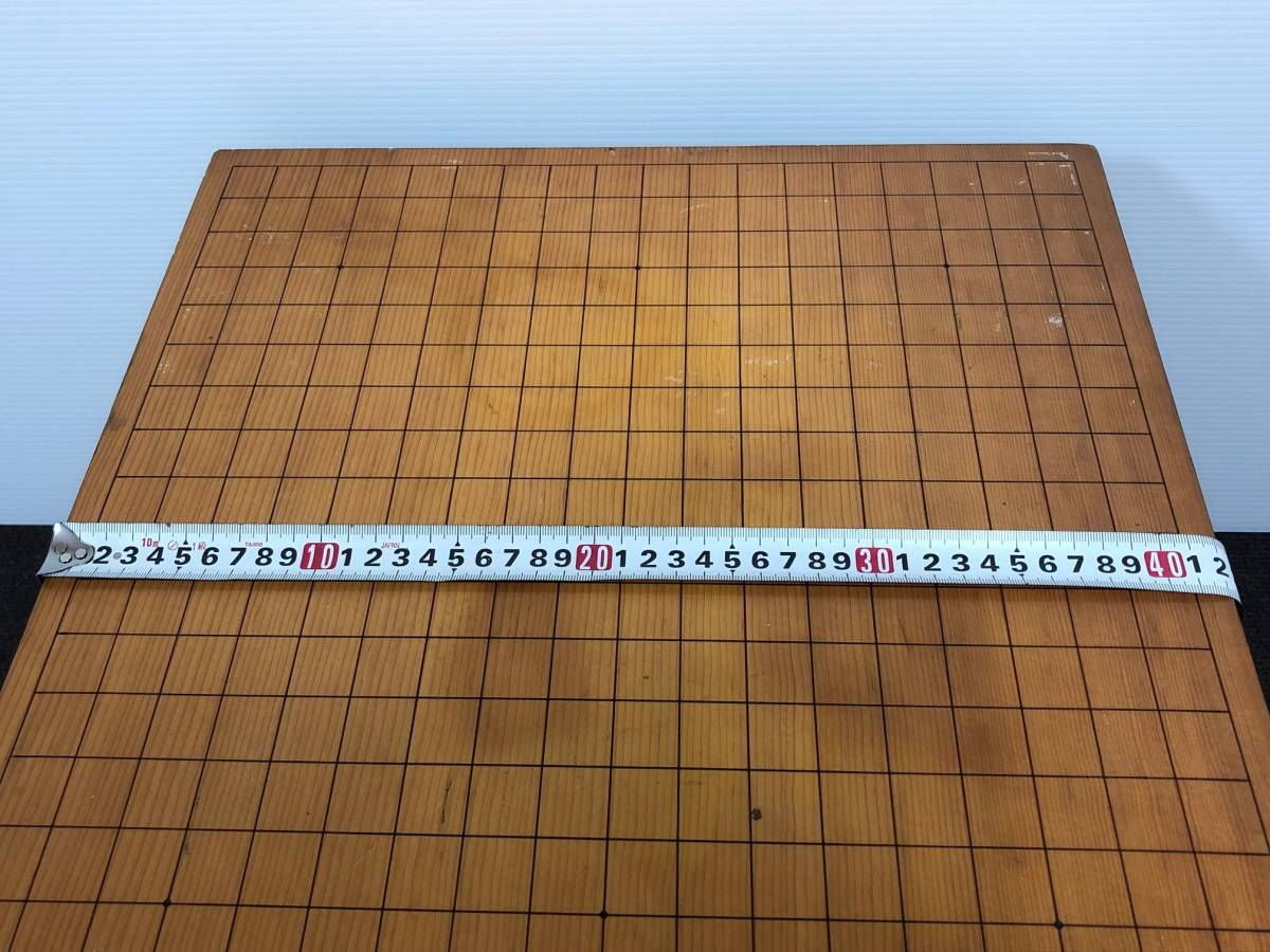 【中古】碁盤 黒漆塗り 金蒔絵 松鷹図 60号(厚さ18cm)_画像7