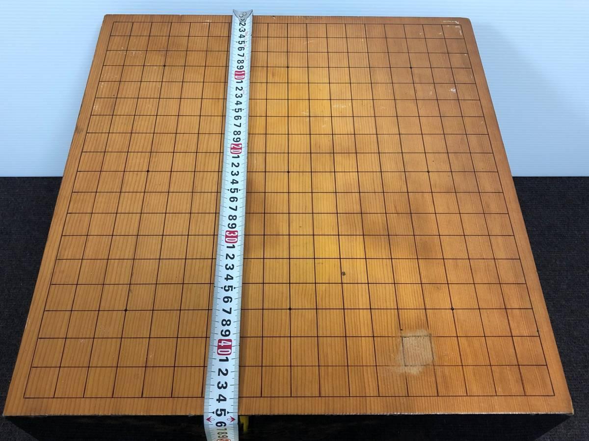 【中古】碁盤 黒漆塗り 金蒔絵 松鷹図 60号(厚さ18cm)_画像8