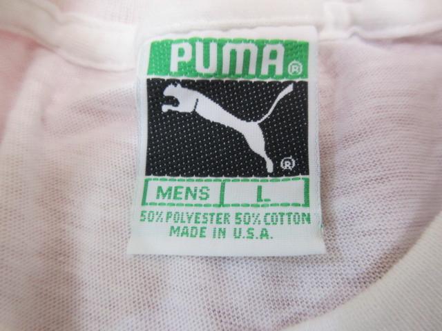 オ50 PUMA プーマ メンズ 半袖Tシャツ Lサイズ・ホワイト_画像2